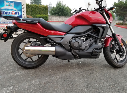 INNOVV K2 Motorcycle Camera System was installed on Honda ctx700n