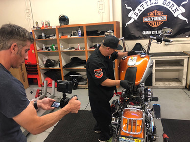 INNOVV C5 Motorcycle Camera System was installed on Harley Davidson