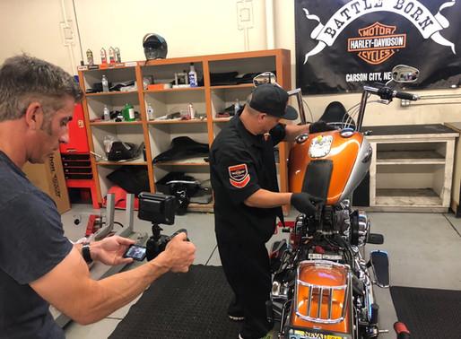 INNOVV C5 Motorcycle Camera System was installed on Harley Davidson