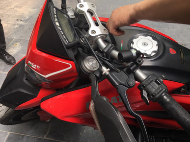 INNOVV C5 Motorcycle Camera System was installed on DUCATI