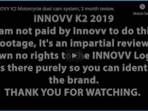 INNOVV K2 Motorcycle duel cam system, 3 month review.