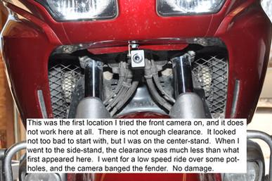 INNOVV K1 Track Cam installed on Honda Goldwing GL1800