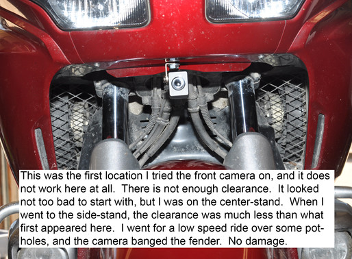 INNOVV K1 Track Cam installed on Honda Goldwing GL1800
