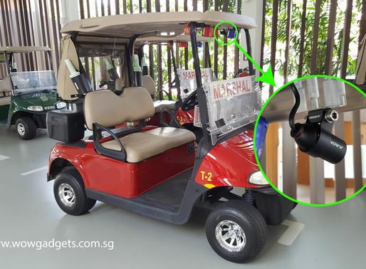 INNOVV C5 on Golf Cart