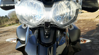 INNOVV Motorcycle Camera on 2015 Triumph Tiger 800