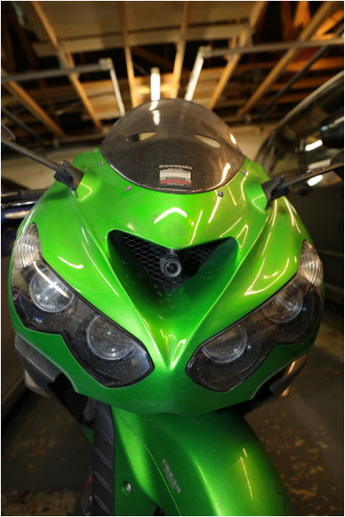 INNOVV C5 Motorcycle Camera Installed on Suzuki hayabusa