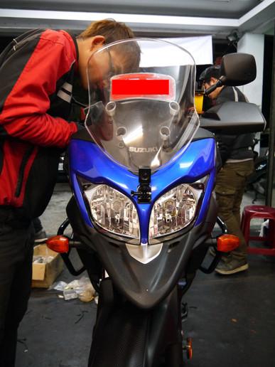 INNOVV K1 Motorcycle camera installed on SUZUKI V-STORM 650