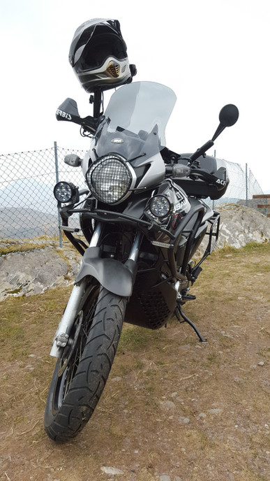 INNOVV K1 Motorcycle Camera Installed on Honda Transalp 700