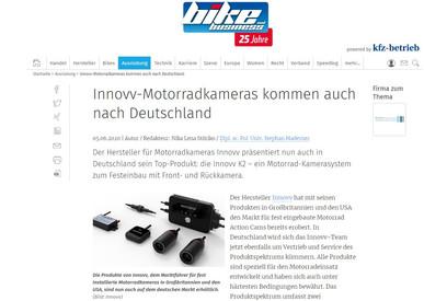 Innovv-Motorradkameras kommen auch nach Deutschland