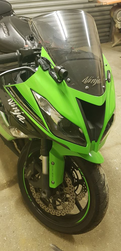 INNOVV K2 Motorcycle Camera System on Kawasaki Ninja Zx-6R