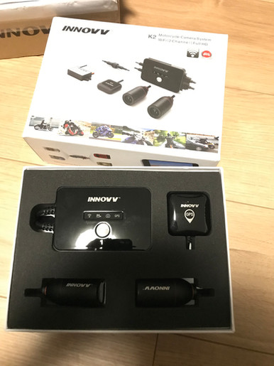 INNOVV K2 Motorcycle Camera System on Kawasaki Versys650ABS