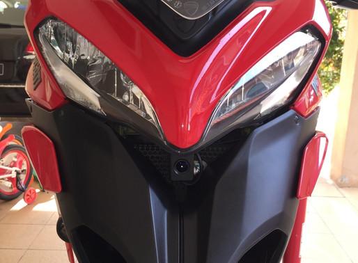 INNOVV K1 motorcycle camera installed on Ducati Multistrada 1200