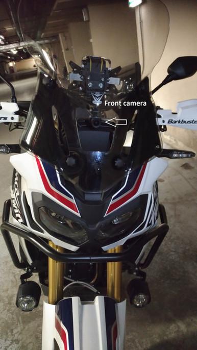 INNOVV K2 Motorcycle Camera System on 2016 Honda CRF1000D Africa Twin