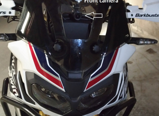 INNOVV K2 Motorcycle Camera System on 2016 Honda CRF1000D Africa Twin