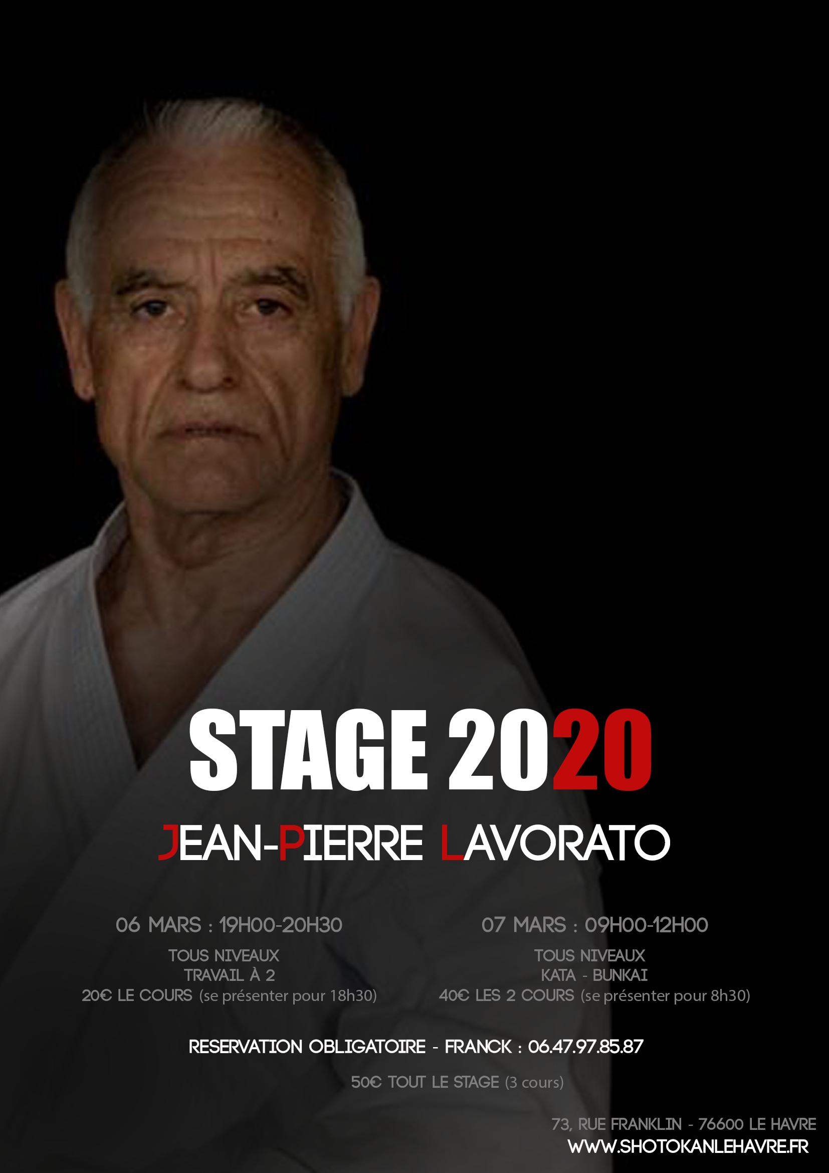 Stage Jean Pierre LAVORATO Mars 2020