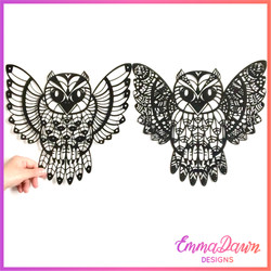 feathered owl photo logo
