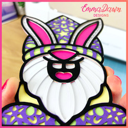 3D LAYERED EASTER BUNNY GNOME