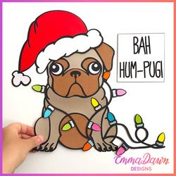 Rascal The Christmas Pug