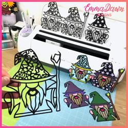 The WIZARD SVG BUNDLE 8 Mandala / Zentangle Designs Svg, Png, Dxf, Pdf & Fcm Digital Download