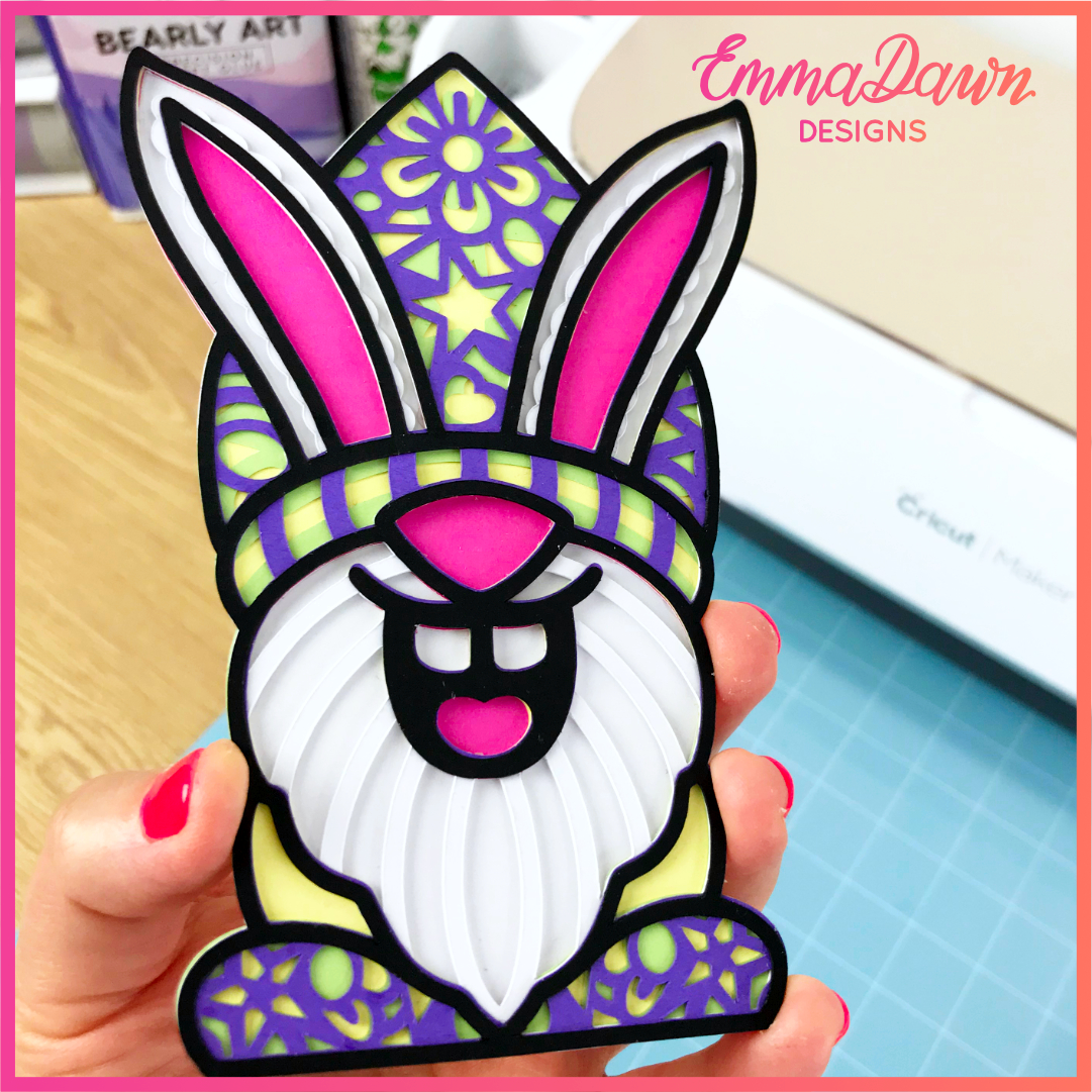 3D LAYERED EASTR BUNNY GNOME VG
