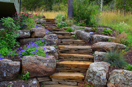 Outdoor Stairways with Slate