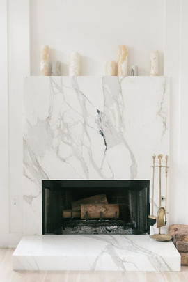 Marble Fireplace Decor