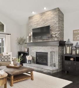 Slate Fireplace Decor