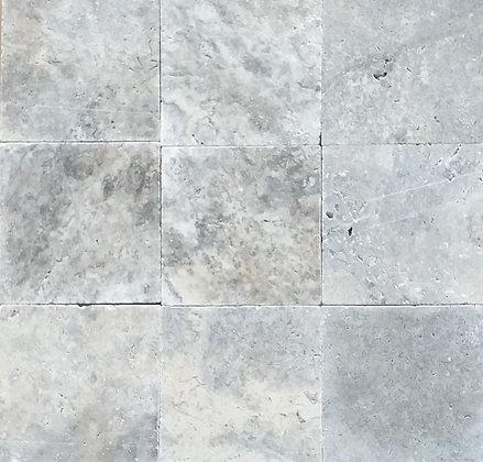 Grey / Silver Travertine Tile