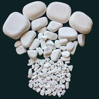 Decorative White Limestone Pebbles