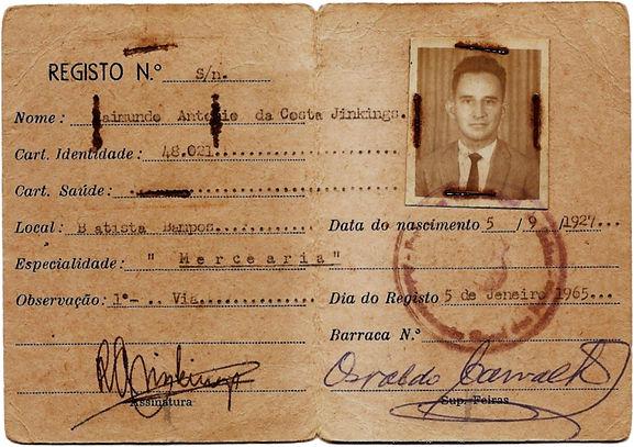 carteira de feirante de Raimundo Jinkings