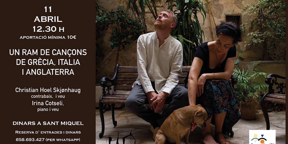 Un ram de cançons de Grècia, Italia i Anglaterra - Christian Hoel Skjønhaug i Irina Cotseli