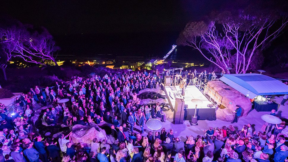 Birch Aquarium can accommodate large outdoor concerts on Tide Pool Plaza.