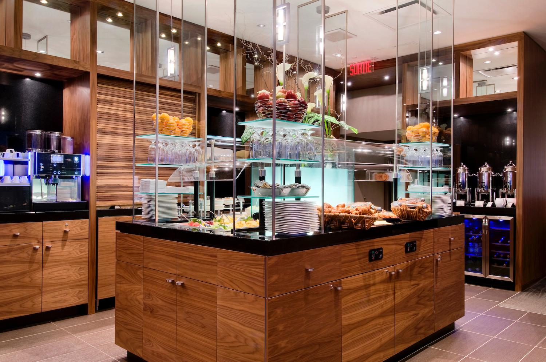 Executive lounge morning buffet
