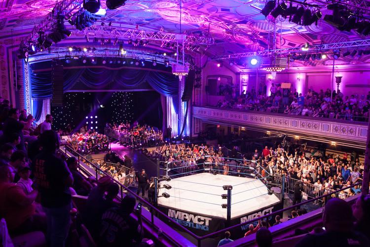 TNA wrestling in the Grand Ballroom. Photo Credit: Up Studios