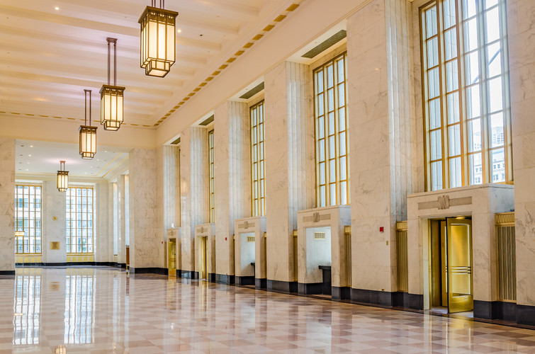 Restored to its original state, the Historic Lobby is beautiful and timeless. Joni Kat Anderson Photography