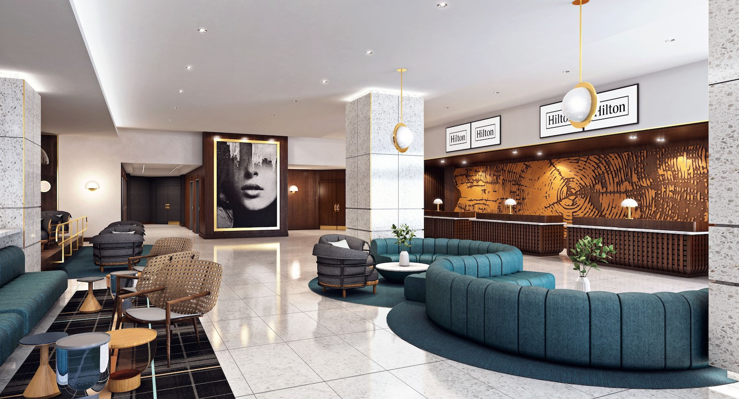 NEW Hotel lobby. Your experience starts here!