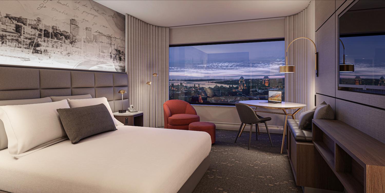 NEW hotel 1 King bedroom overlooking Old Quebec