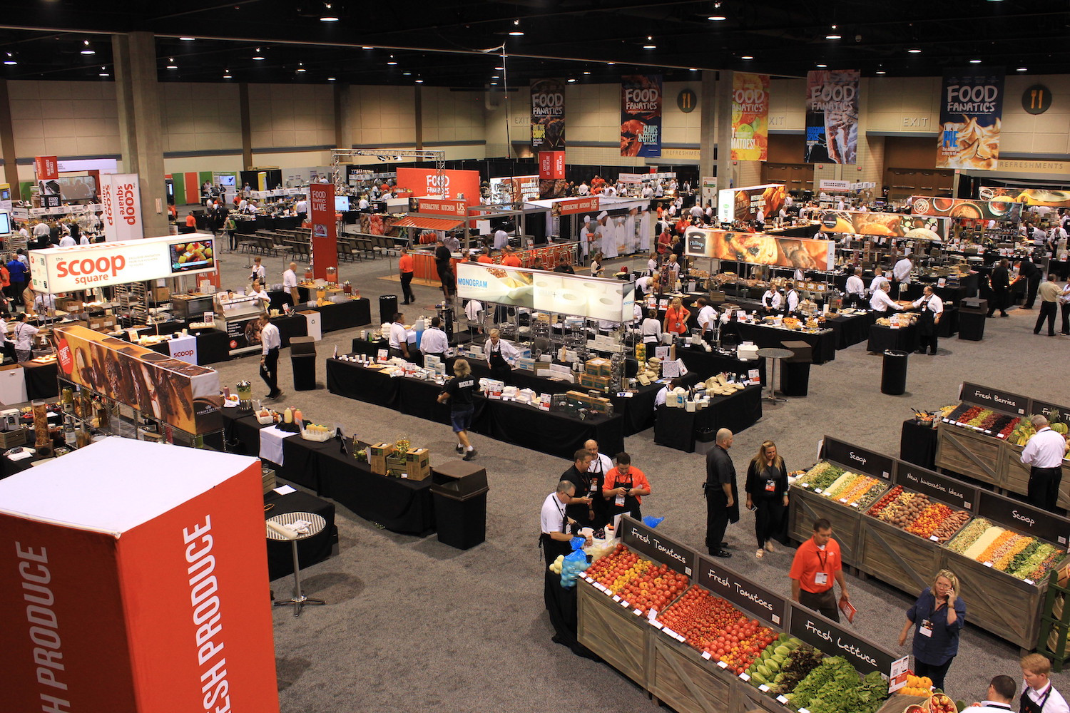 There is plenty for the Food Fanatics Trade Show within the columnless Exhibition Halls of the Overland Park Convention Center.