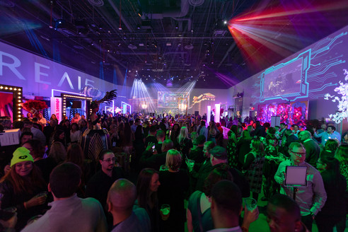 Portal, 7,000-square-foot indoor venue featuring 360-degree projection mapping and more. (Laurent Velazquez)
