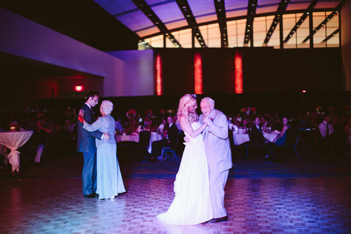 The ballroom is the perfect destination to create beautiful memories of your wedding reception