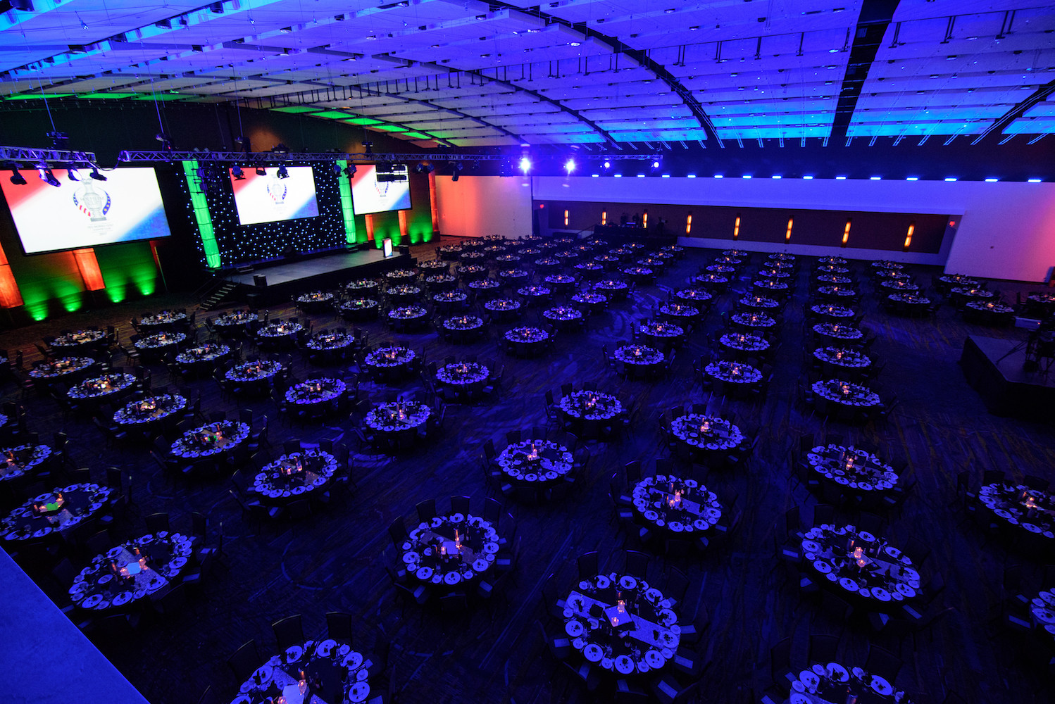 The ballroom at the Iowa Events Center provides spacious, flexible spaces to host charity fundraisers, galas, and more in the state's biggest ballroom.