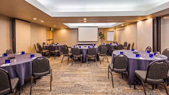 Embarcadero Room - 999 sq. ft - can be split in half. Photo is Post COVID. Social distancing protocol in place.