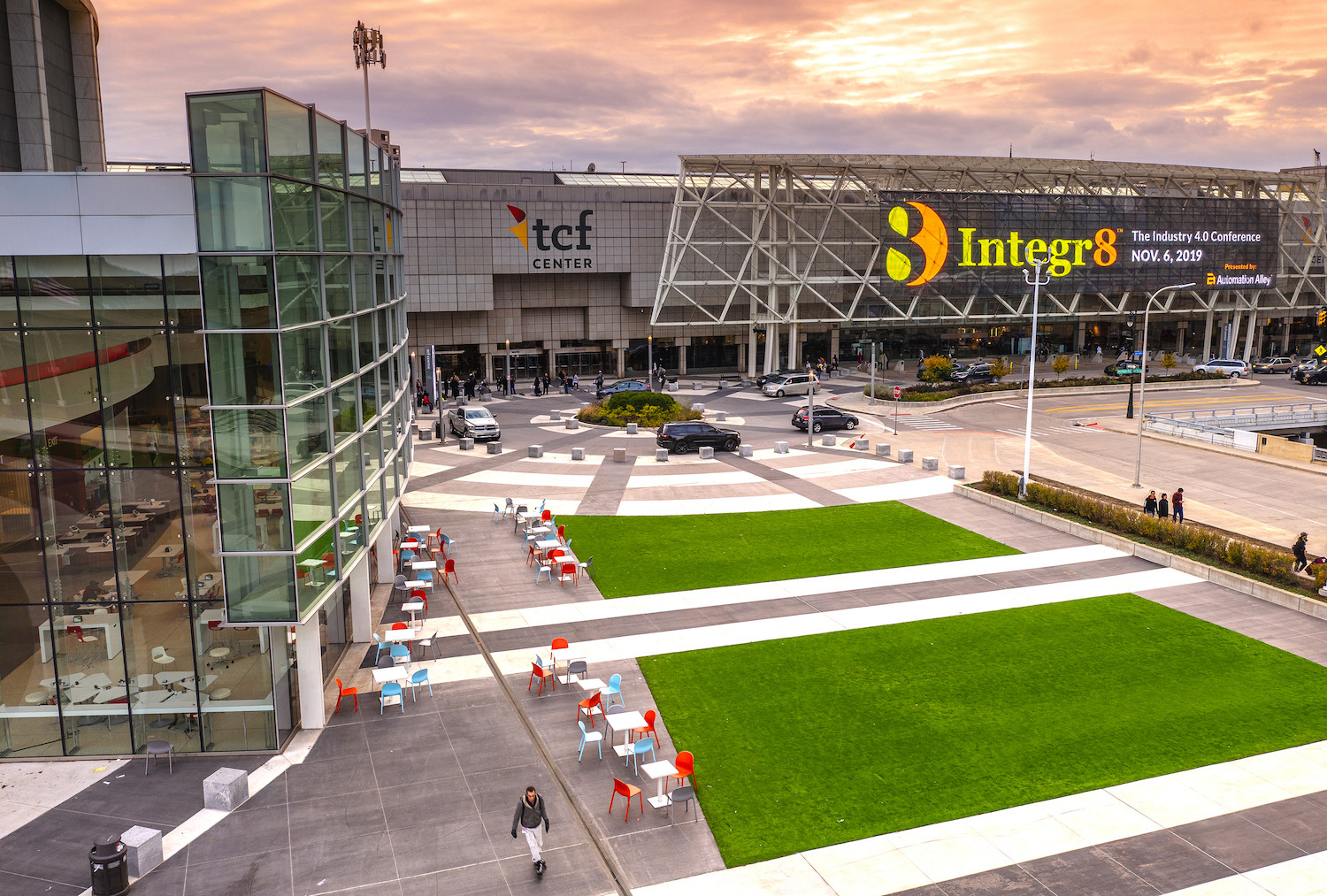 TCF Square provides 45,000 square feet of outdoor event space