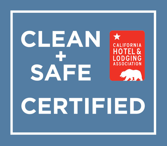 Certified Clean+Safe by California Hotel & Lodging Association, among others. Meeting rooms will be set accordingly as well.