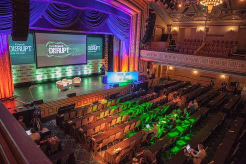 Tech Crunch conference in the Grand Ballroom. Photo Credit: Mark Doyle