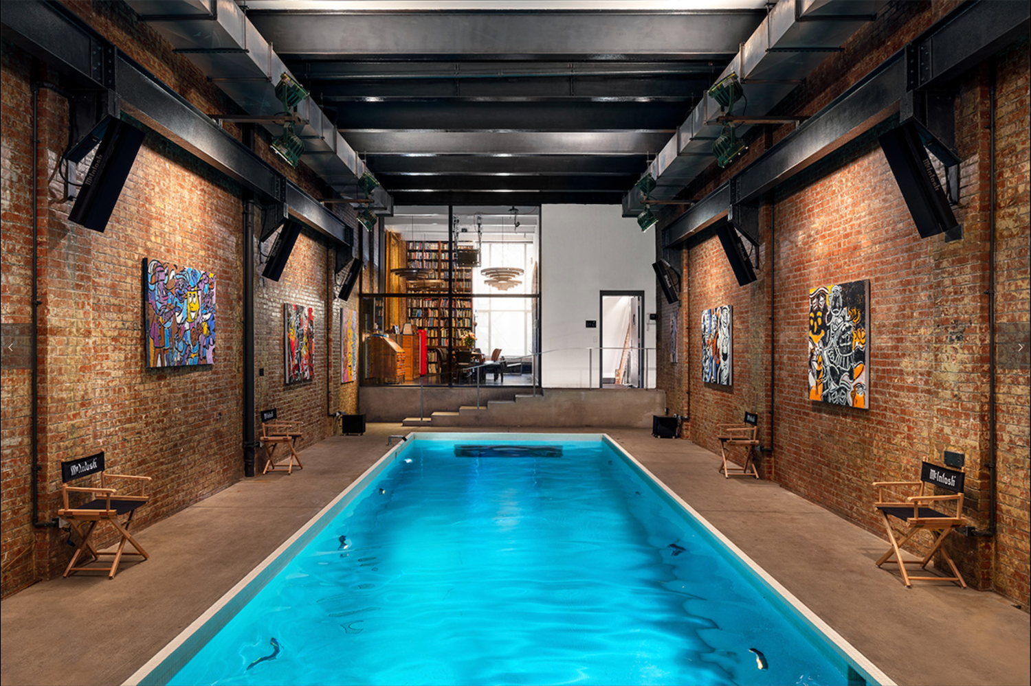 Indoor swimming pool located on the 2nd Floor