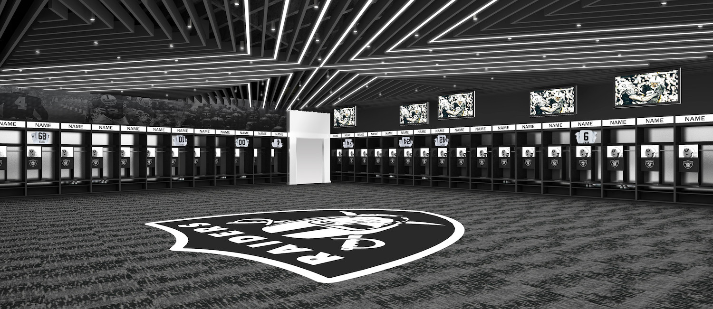 Raiders Locker Room
