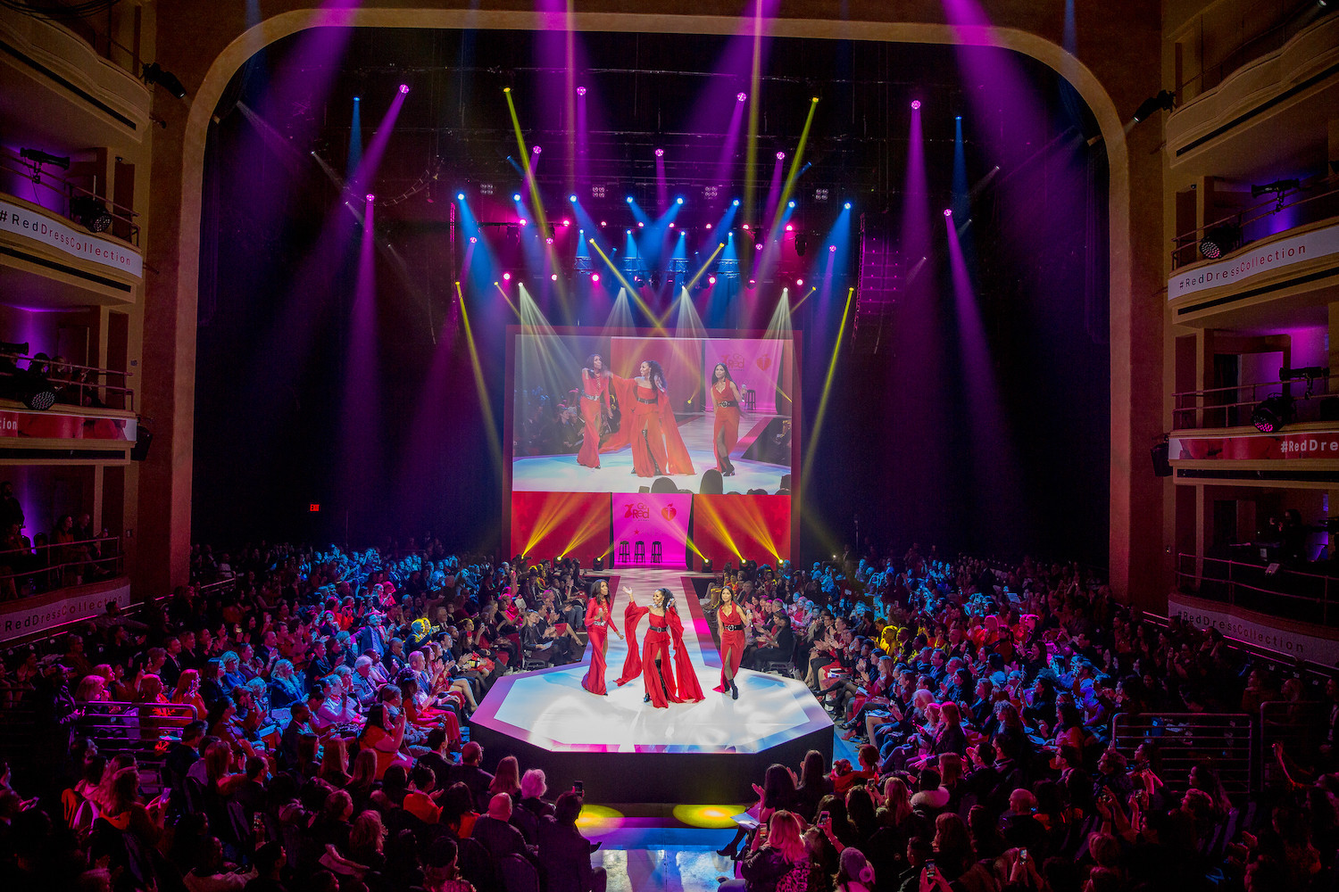American Heart Association's annual Red Dress Fashion Show in the Hammerstein Ballroom. Photo Credit: Mark Doyle