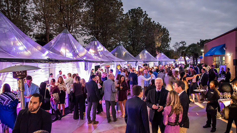 For the Taste of the World Breeder's Cup event, Birch Aquarium's outside courtyard was transformed into a culinary adventure with booths featuring global chefs.
