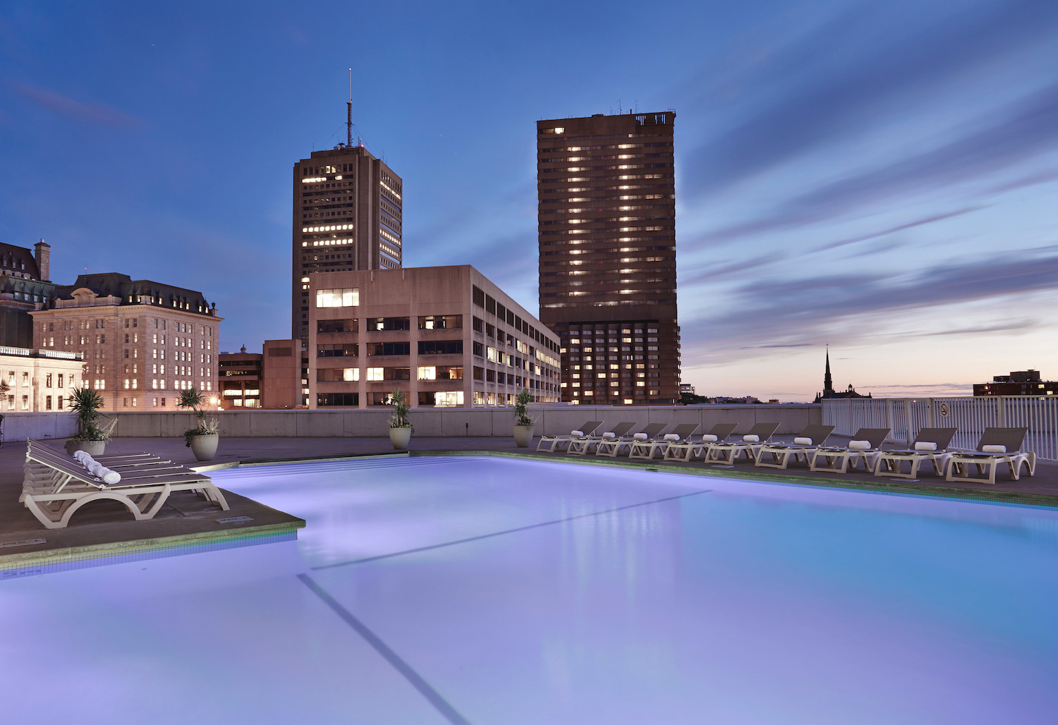 Rooftop heated outdoor pool open year-round